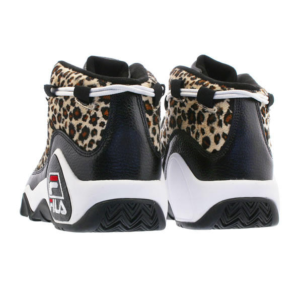 Fila (Fila) sneakers higher frequency elimination shoes 95 PRIMO LEOPARD  FUR BLACK leopard pattern skateboard SKATE SK8 skateboarding PUNK flat  HIPHOP ...