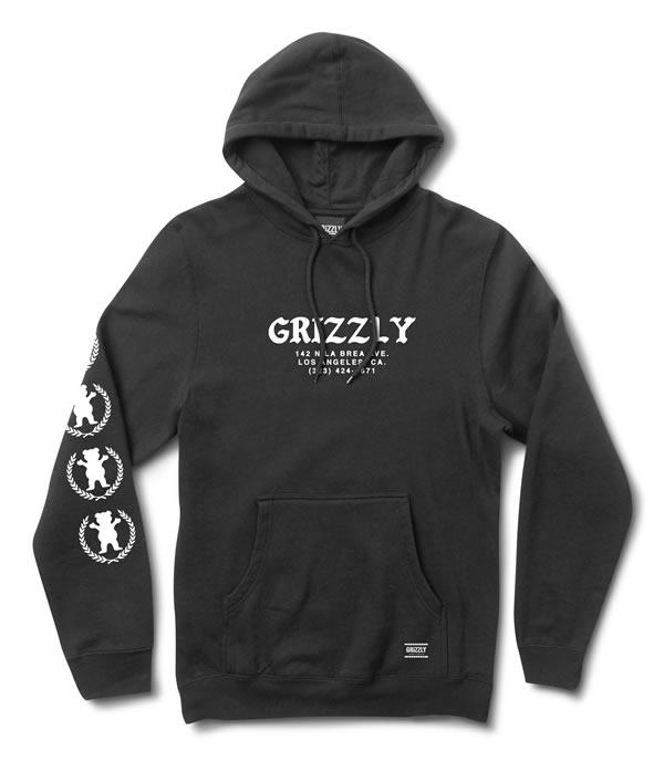Grizzly Griptape(グリズリー)パーカー フード プルオーバー Bear Hug Hoodie Black スケボー SKATE SK8 スケートボード HARD CORE PUNK ハードコア パンク HIPHOP ヒップホップ SURF サーフ レゲエ reggae スノボー スノーボード Snowboard NINJA X