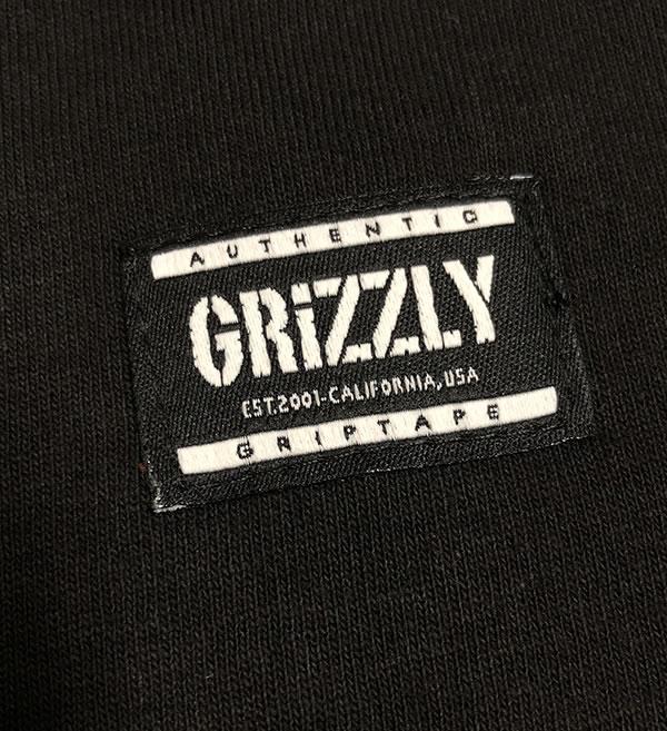Grizzly Griptape (grizzly) T-shirt Bear Hug S/S Tee Black skateboard SKATE  SK8 skateboarding HARD CORE PUNK hard-core punk HIPHOP hip-hop SURF surf