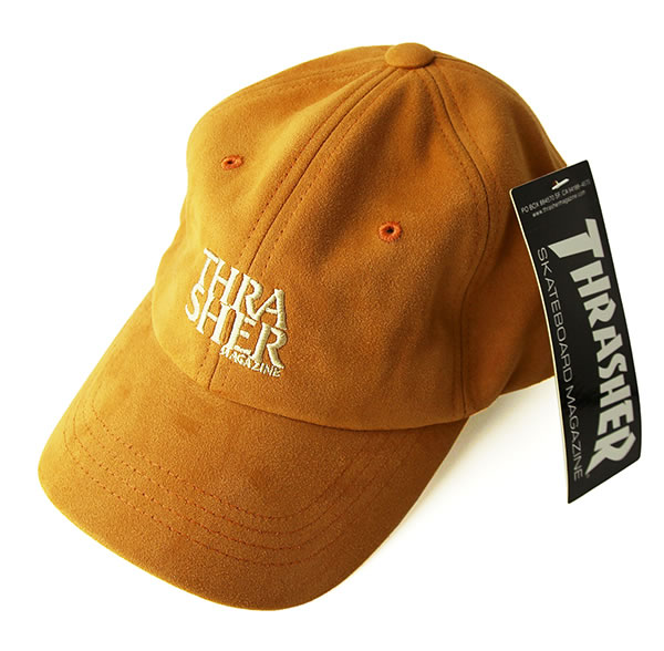 Thrasher Magazine (slasher) スエードキャップダッドハット hat Anti-logo Suede Low Cap Dad  Hat CAMEL skateboard SK8 skateboarding HARD CORE PUNK hard-core ... 1603ded302d