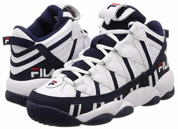 Fila (Fila) higher frequency elimination sneakers shoes SPAGHETTI WhiteNavy (spaghetti) basketball basketball skateboard SKATE SK8 skateboarding PUNK