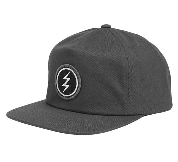 ELECTRIC (electric) cap hat snapback hat Volt Patch Cap CHARCOAL skateboard  SKATE SK8 skateboarding PUNK flat HIPHOP hip-hop SURF サーフスノボースノーボード ... 50f9daeafc5