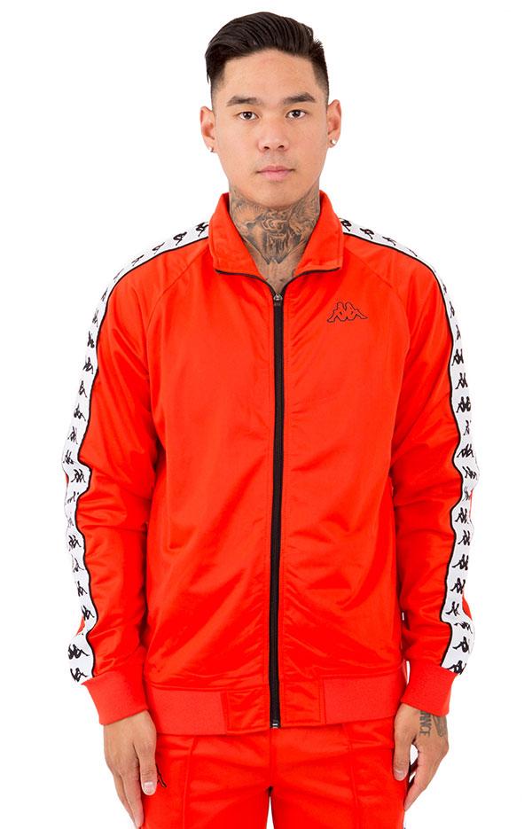 Kappa ジャージ トップス トラックジャケット カッパ サッカー Banda Anniston Slim Jacket Red/Orange/White スケボー SK8 スケートボード HARD CORE PUNK ハードコア パンク HIPHOP ヒップホップ SURF サーフ スノボー スノーボード Snowboard NINJA X