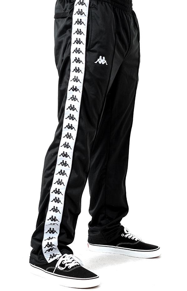 Kappa(カッパ)ジャージ ロングパンツ 222 Banda Astoriazz Pants Black/White スケボー SK8 スケートボード HARD CORE PUNK ハードコア パンク HIPHOP ヒップホップ SURF サーフ スノボー スノーボード Snowboard NINJA X