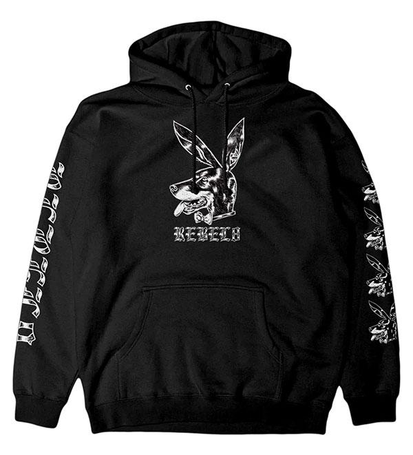 REBEL8(レベルエイト)パーカー プルオーバー Marston Pullover Hoodie BLACK スケボー SKATE SK8 スケートボード HARD CORE PUNK ハードコア パンク HIPHOP ヒップホップ SURF サーフ レゲエ reggae スノボー スノーボード Snowboard NINJA X
