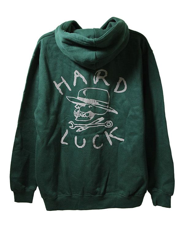 Hard Luck(ハードラック)パーカー プルオーバー OG Logo Pullover Hoodie Forest Green モーターサイクル バイク スケボー SKATE SK8 スケートボード HARD CORE PUNK ハードコア パンク HIPHOP ヒップホップ SURF サーフ レゲエ reggae スノボー スノーボード