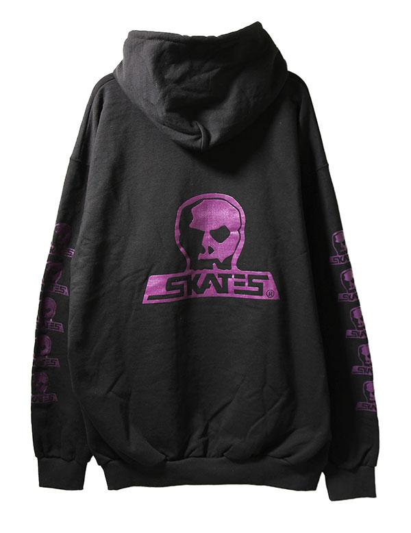 Skull Skates(スカルスケーツ)パーカー プルオーバー Logo Blood Pullover Hoodie Black/Purple スケボー SKATE SK8 スケートボード HARD CORE PUNK ハードコア パンク HIPHOP ヒップホップ SURF サーフ レゲエ reggae スノボー スノーボード Snowboard NINJA X