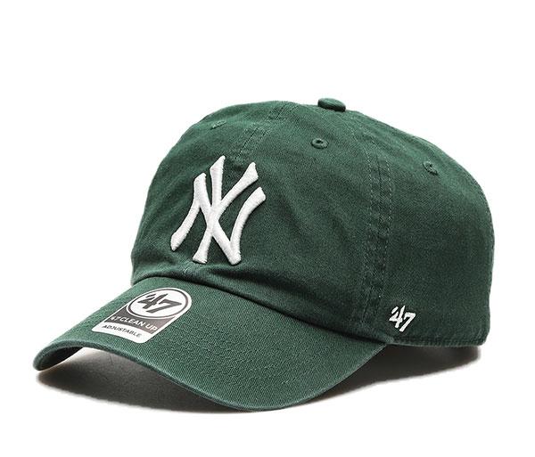 '47 フォーティセブン ベースボールキャップ 帽子 キャップ ダッドハット Yankees メジャーリーグ Green UP 予約販売 CLEAN '47 送料無料 一部地域を除く Dark ヤンキース