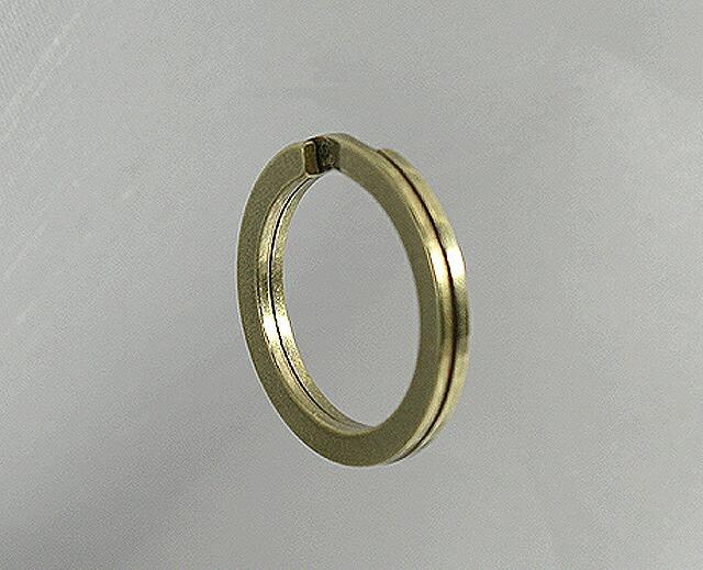 真鍮ダブルリング20mm平。100個セット(30%OFF)バレル研磨。国産品。