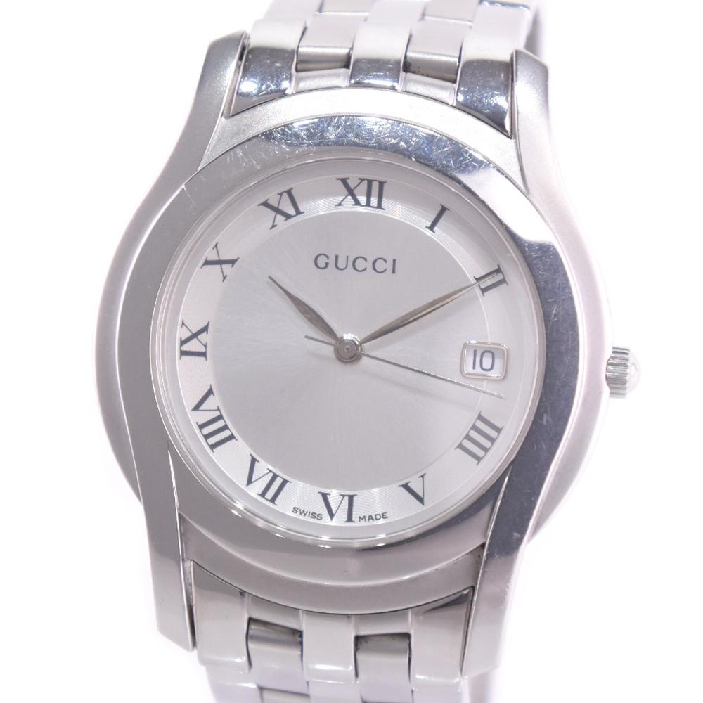f61173e08ad A-rank in a Gucci 5500M stainless steel 5500M silver quartz men silver  clockface arm in total
