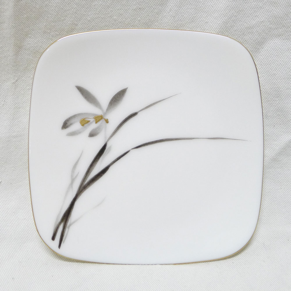 KORANSHA small plate white / orchid pattern square tableware S rank  sc 1 st  Rakuten & pawn shop nishikino | Rakuten Global Market: KORANSHA small plate ...