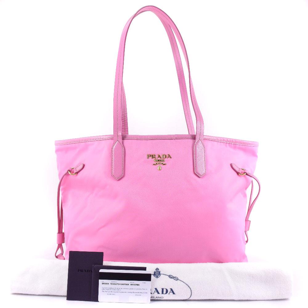 da5401952ee62a ... new arrivals prada tessuto saffiano br3924 nylon begonia pink lady tote  bag sa rank 8c04e 6ae2e
