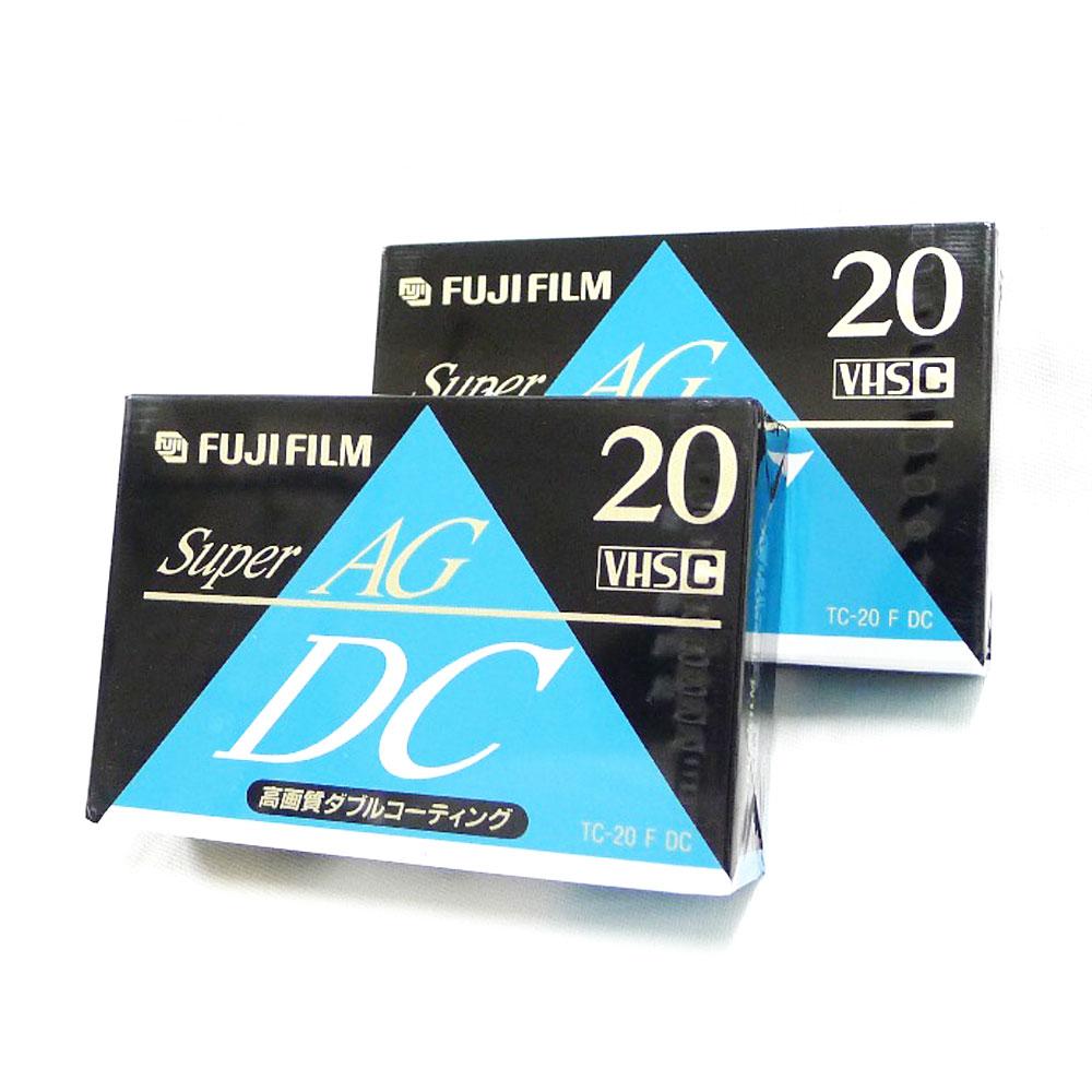 【FUJI FILM】フジフィルム VHS-Cテープ super AG 20分 2本 DOUBLE COATING TC-20 ユニセックス アクセサリー【中古】Sランク