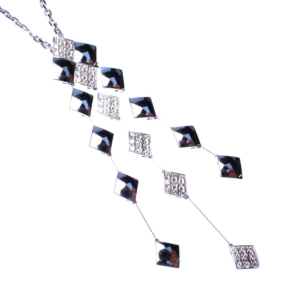 【CHANEL】シャネル マトラッセ ダイヤ K18ホワイトゴールド レディース ネックレス【中古】Aランク