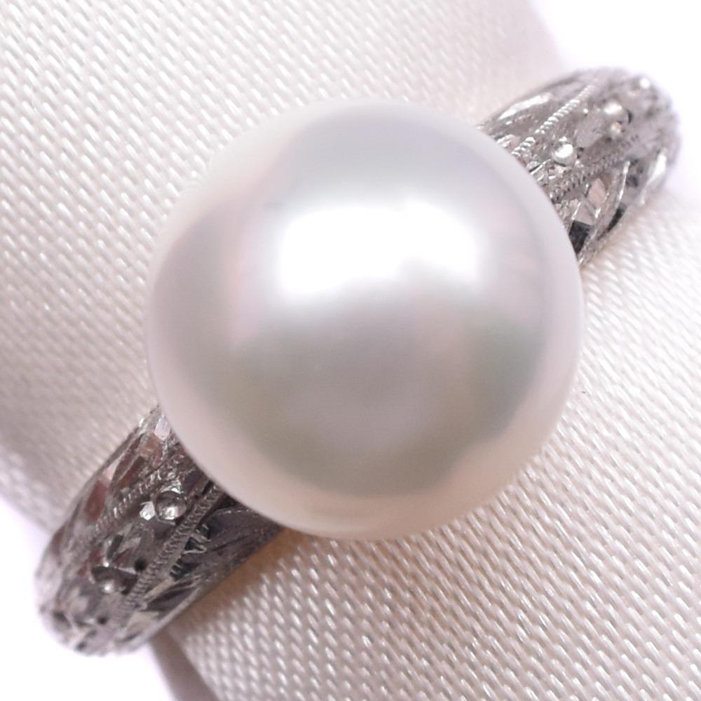パール Pt900プラチナ×真珠 11号 レディース リング・指輪【中古】Aランク