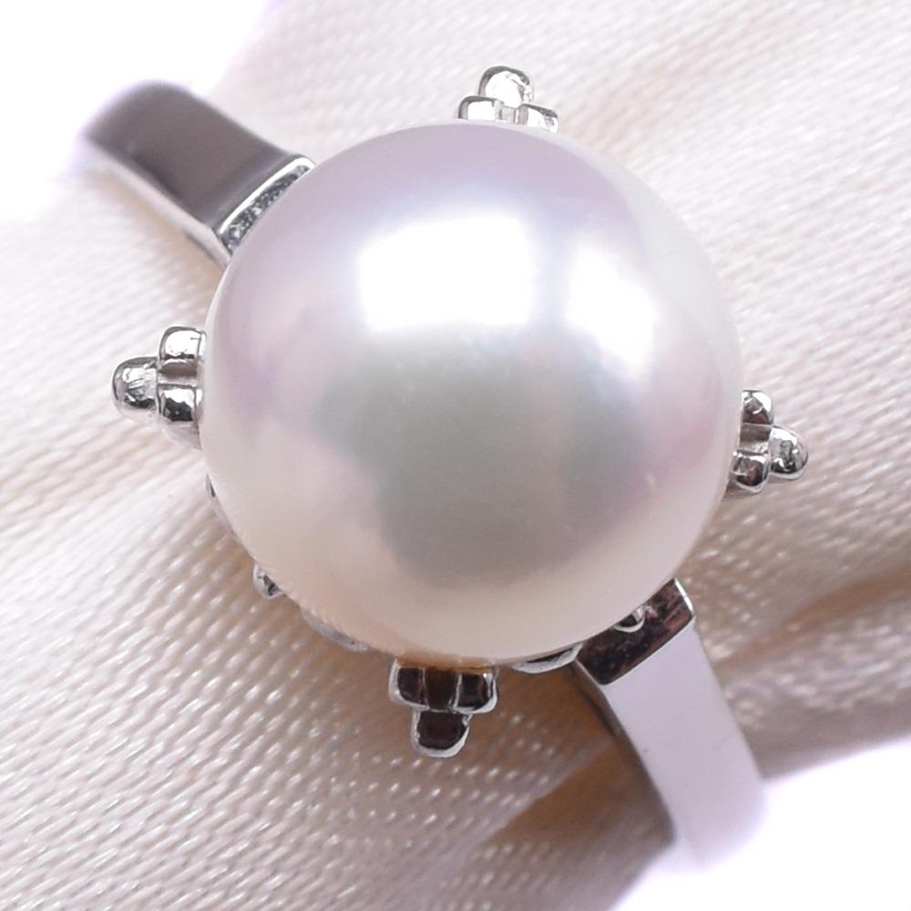 【TASAKI】タサキ パール 8.5号 Pt900プラチナ×真珠 8.5号 レディース リング・指輪【中古】SAランク