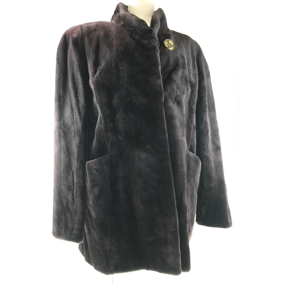 毛皮コート シェアードミンク 黒 ユニセックス その他アウター【中古】SAランク