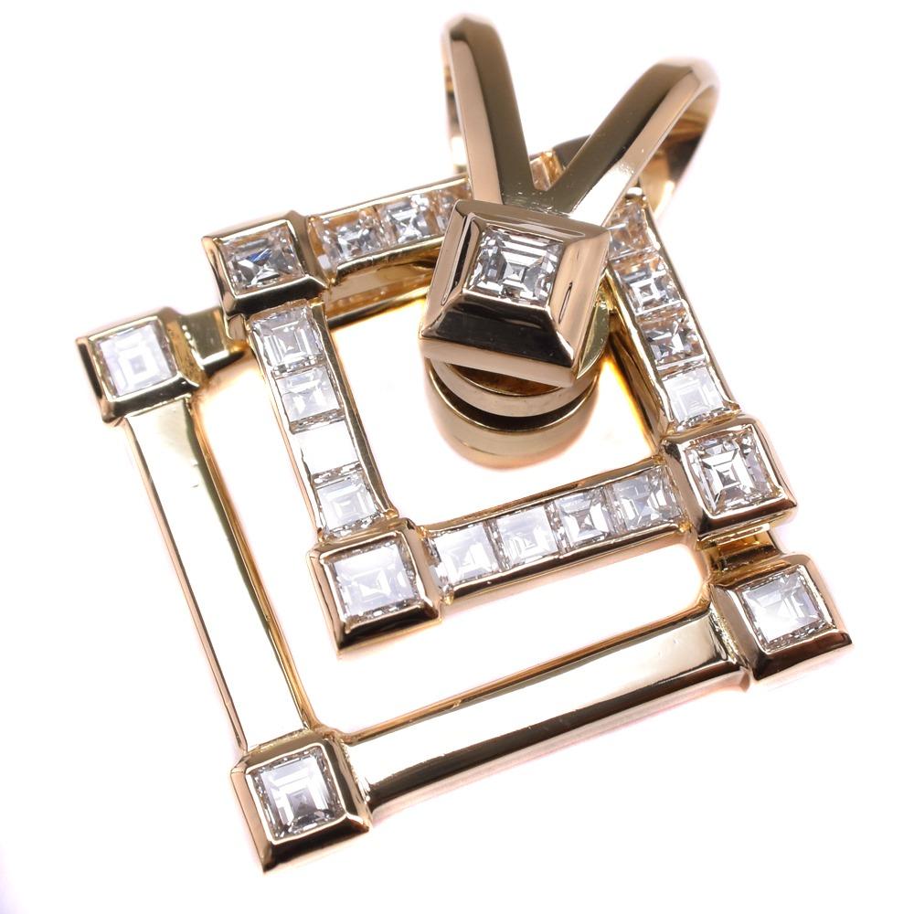 【WALTHAM】ウォルサム ★スイング/スウィング ダイヤモンド K18イエローゴールド レディース ペンダントトップ【中古】SAランク