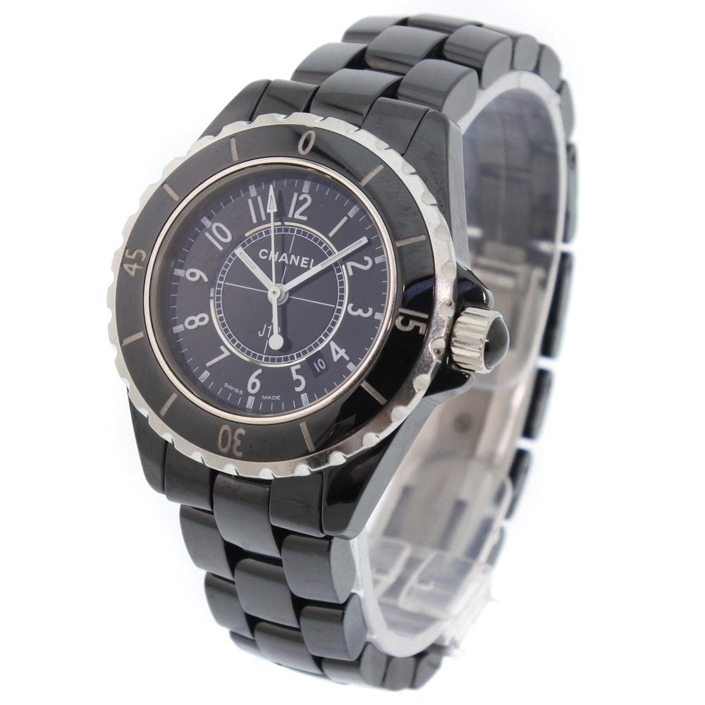 251afb16b640 ... 【CHANEL】シャネル J12 セラミック ブラック クオーツ レディース 黒文字盤 腕時計【】A- ...