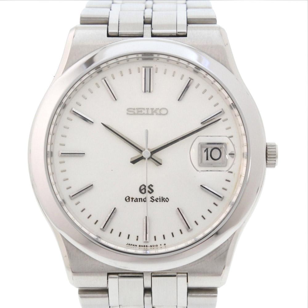 【SEIKO】セイコー グランドセイコー 8N65-9010 ステンレススチール クオーツ メンズ シルバー文字盤 腕時計【中古】A-ランク