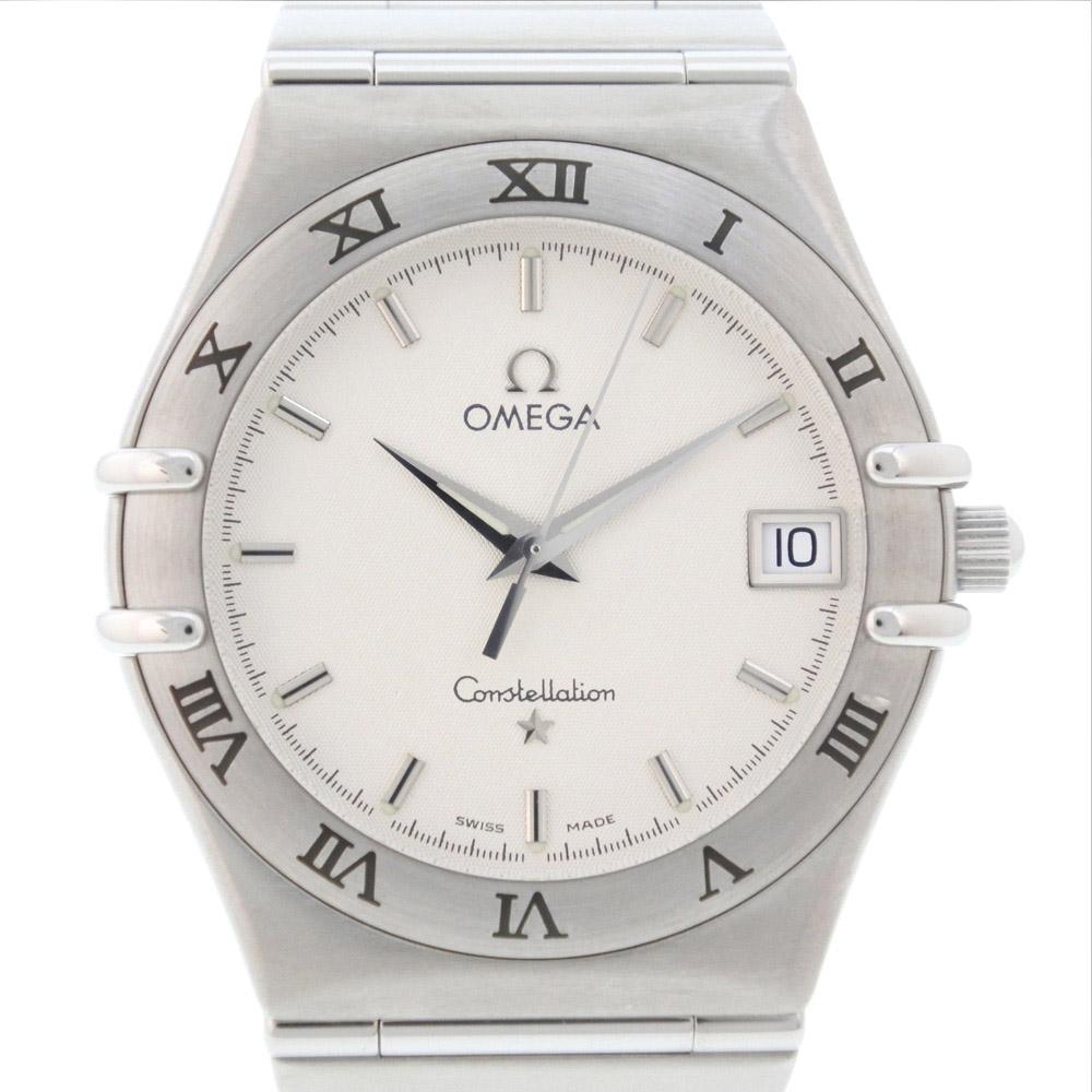 【OMEGA】オメガ コンステレーション 1512.30 ステンレススチール シルバー クオーツ メンズ 白文字盤 腕時計【中古】A-ランク