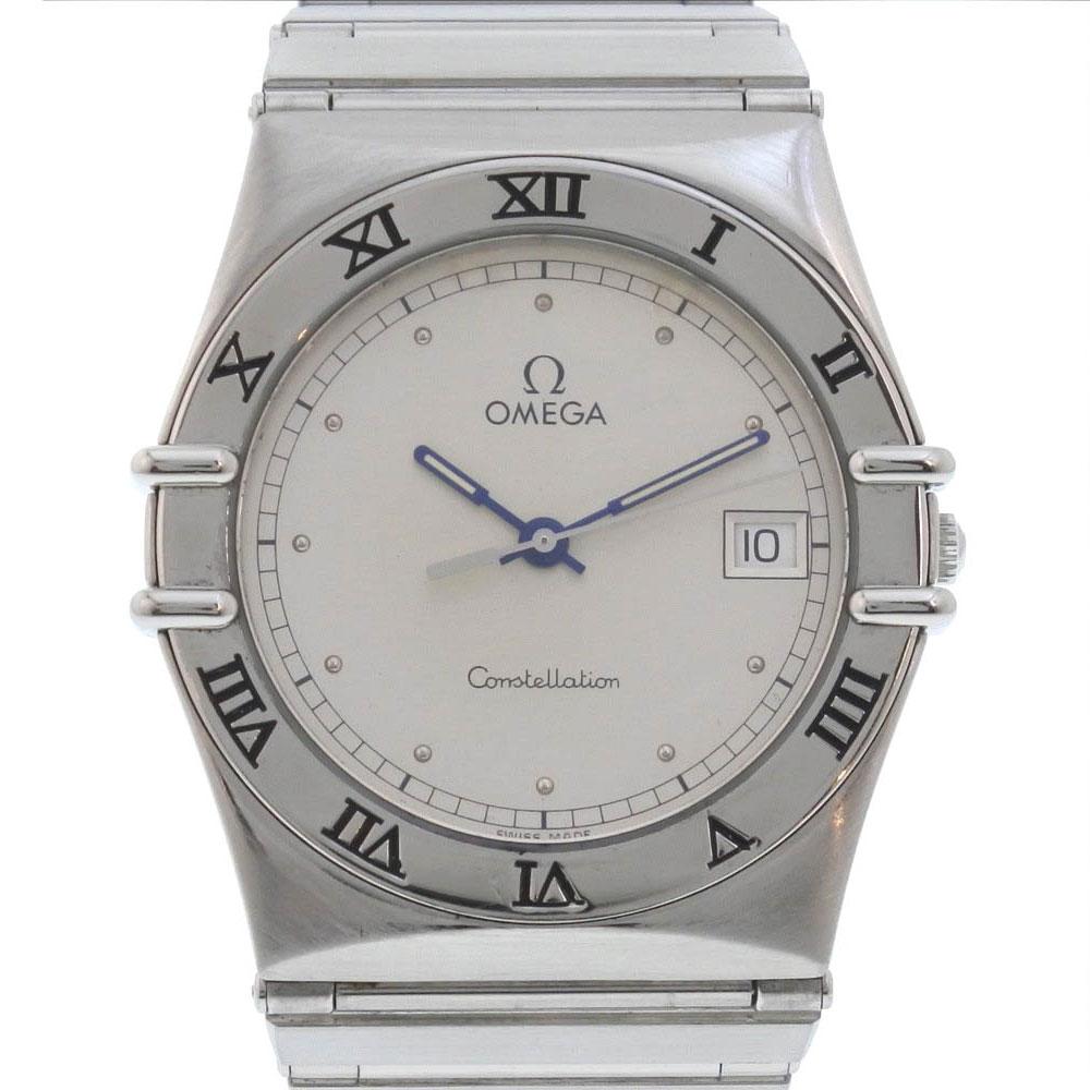 【OMEGA】オメガ コンステレーション ステンレススチール シルバー クオーツ メンズ シルバー文字盤 腕時計【中古】A-ランク