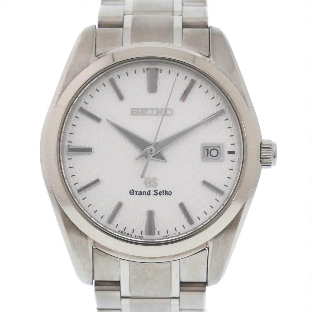 【SEIKO】セイコー ★グランドセイコー 9F62-0AE0 SBGX067 チタン シルバー クオーツ メンズ シルバー文字盤 腕時計【中古】Aランク