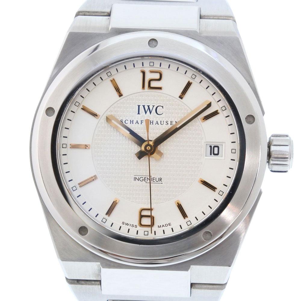 【IWC SCHAFFHAUSEN】アイダブリューシー シャフハウゼン インジュニア 裏スケ IW322801 ステンレススチール ゴールド 自動巻き メンズ 白文字盤 腕時計【中古】Aランク