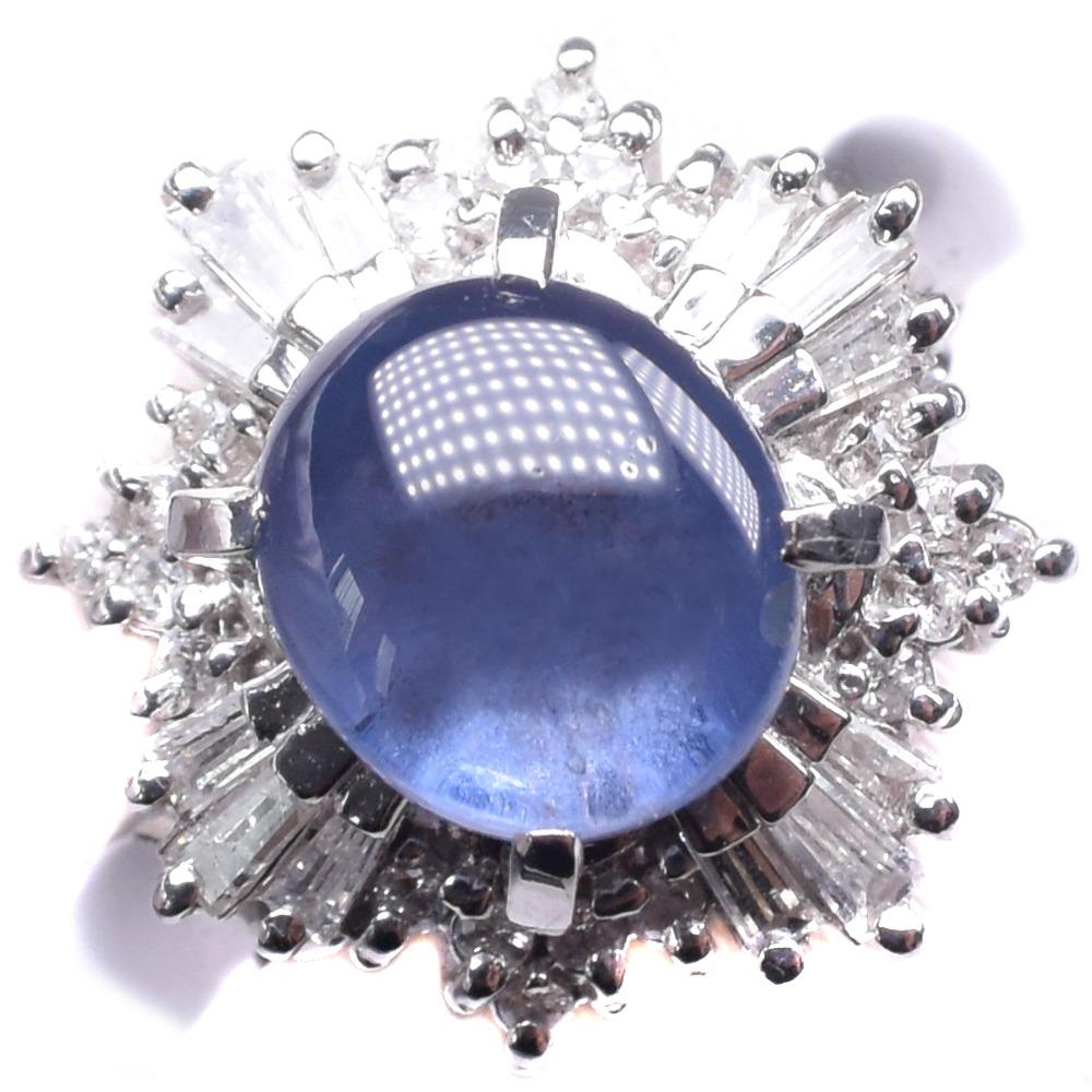 サファイア Pt900プラチナ×ダイヤモンド 12.5号 レディース リング・指輪【中古】SAランク