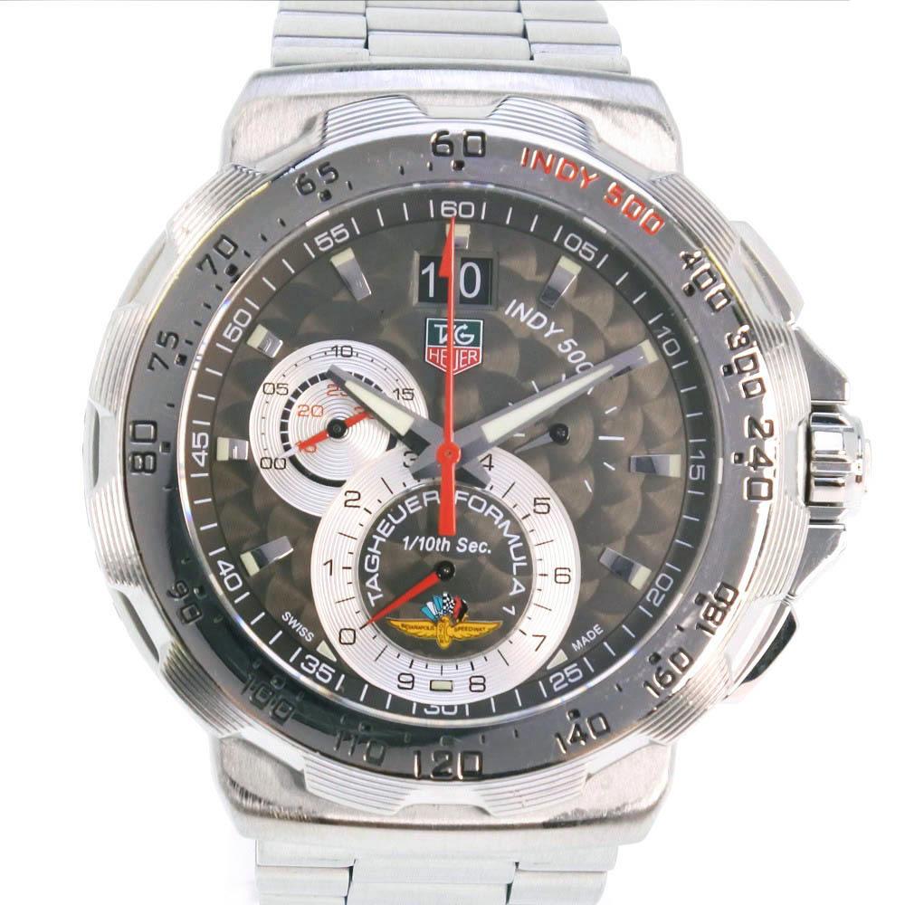 【TAG HEUER】タグホイヤー フォーミュラー1 INDY500 CAH101A ステンレススチール シルバー クオーツ メンズ グレー文字盤 腕時計【中古】Aランク