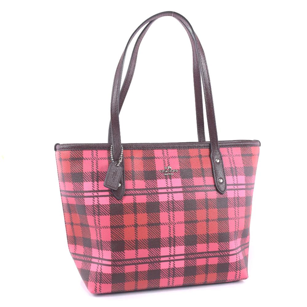 bc527541c09d Coach G1727-F22245 PVC coating canvas X leather pink lady tote bag N rank