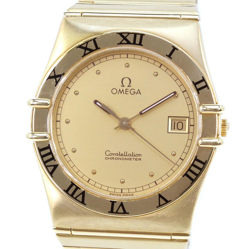 【OMEGA】オメガ コンステレーション 1110.10 K18イエローゴールド クオーツ メンズ ゴールド文字盤 腕時計【中古】Aランク