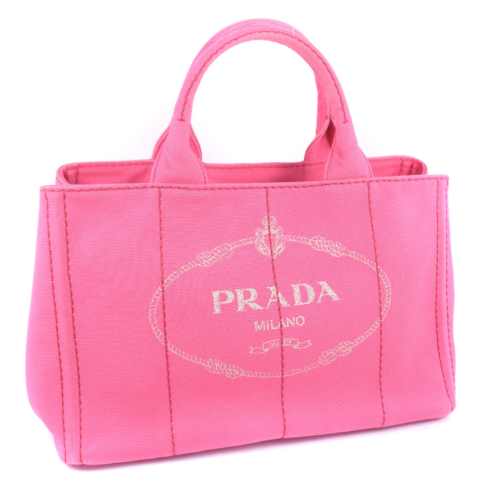 【PRADA】プラダ 2WAYショルダー 1BG642 キャンバス ペオニアピンク レディース ハンドバッグ【中古】A-ランク