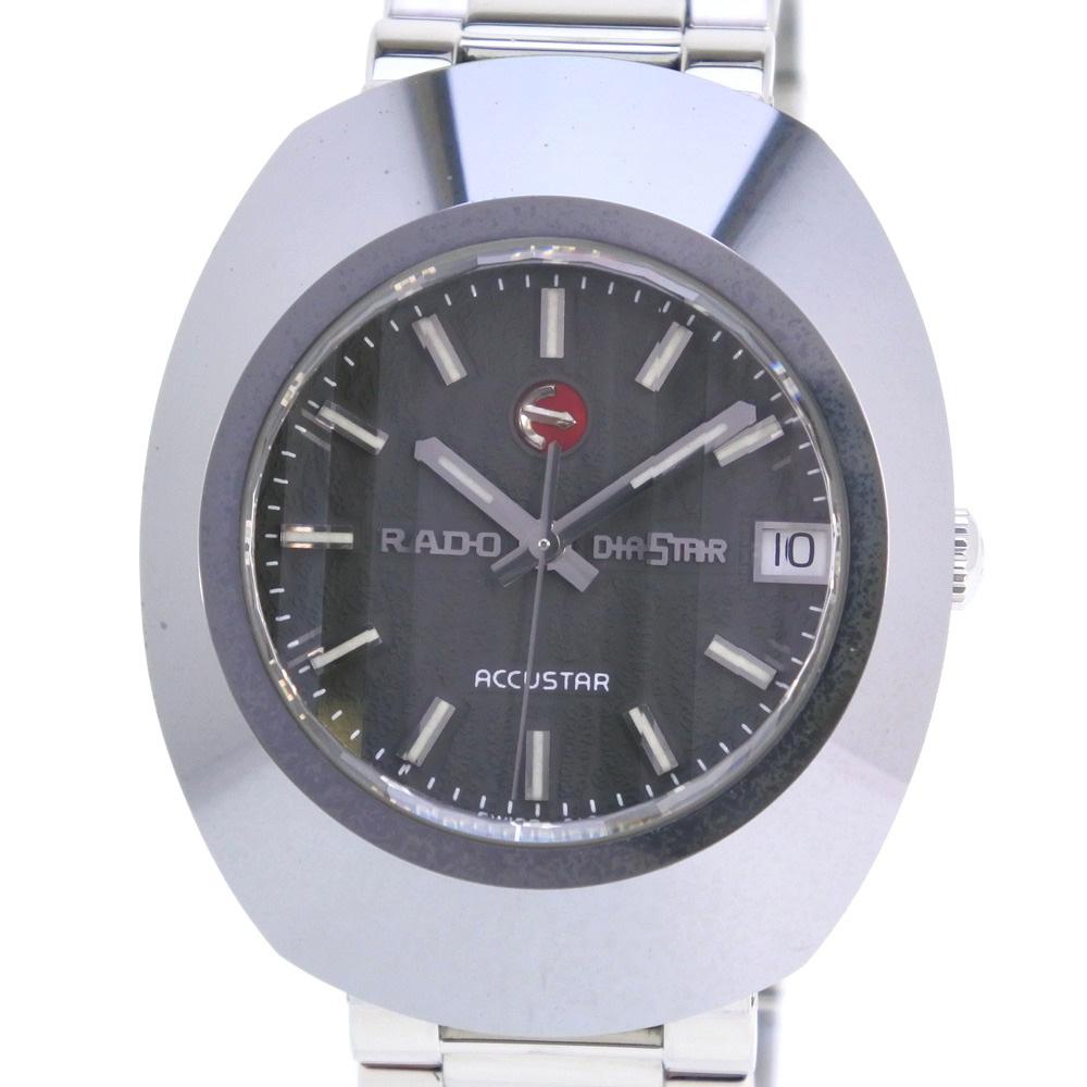 【RADO】ラドー ダイアショック アキュスター ACCUSTAR 597.0435.3 ステンレススチール シルバー メンズ グレー文字盤 腕時計【中古】A-ランク
