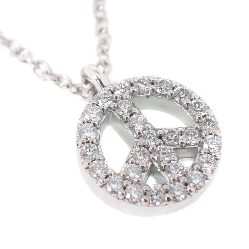 99d5a93a7 pawn shop nishikino: Tiffany metro peace mini-K18 white gold Lady's ...