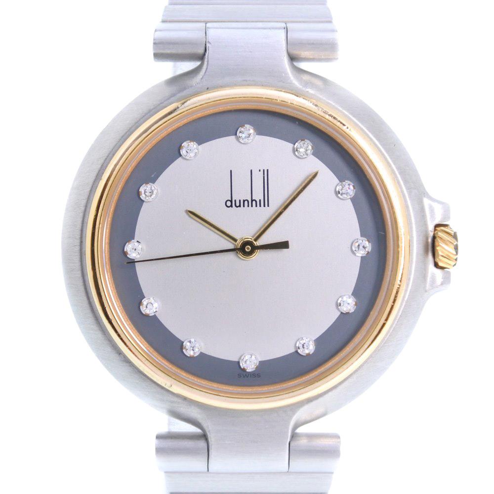 【Dunhill】ダンヒル ミレニアム ステンレススチール ゴールド クオーツ ボーイズ シルバー文字盤 腕時計【中古】