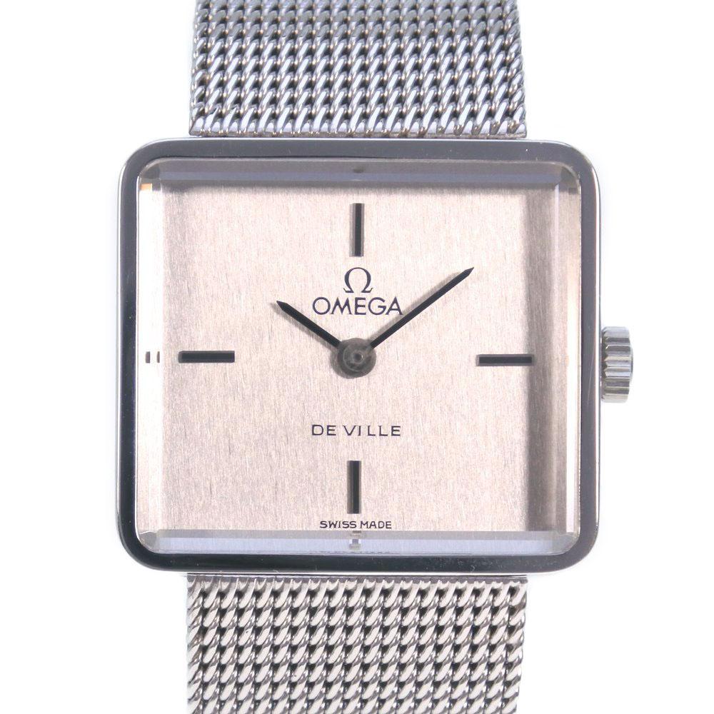 【OMEGA】オメガ デヴィル/デビル cal.625 ステンレススチール 手巻き レディース シルバー文字盤 腕時計【中古】Aランク
