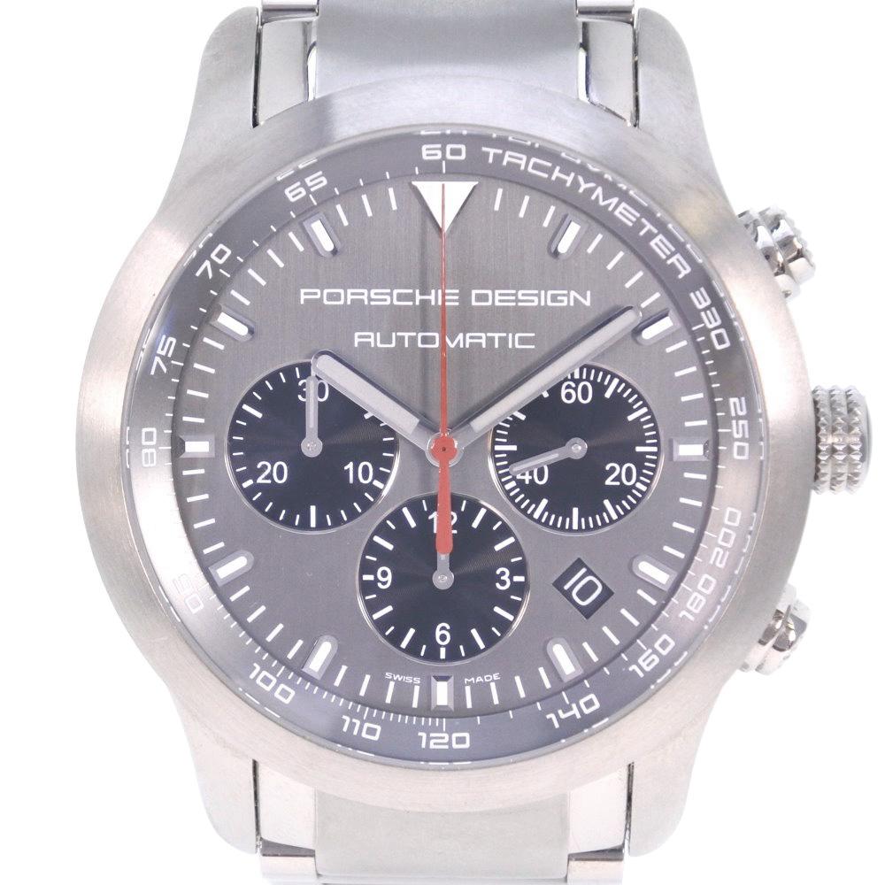 【Porsche Design】ポルシェデザイン ★P6612 ダッシュボード 6612.11/2 チタン シルバー 自動巻き メンズ グレー文字盤 腕時計【中古】Aランク