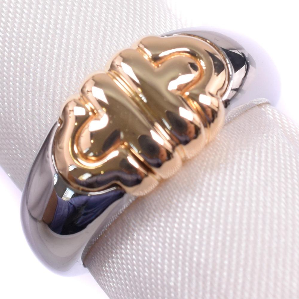 【BVLGARI】ブルガリ バレンテシ K18イエローゴールド×ステンレススチール 13号 メンズ リング・指輪【中古】SAランク