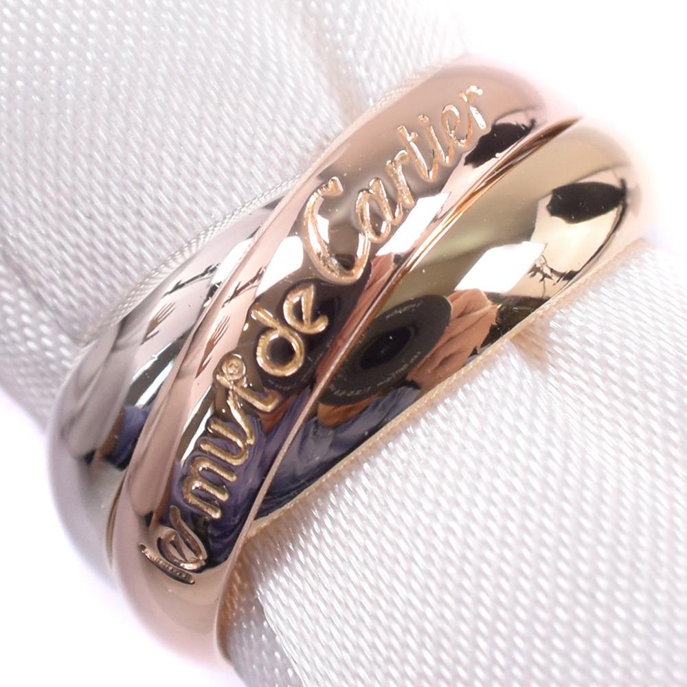 【CARTIER】カルティエ トリニティ K18ゴールド 8号 48刻印 レディース リング・指輪【中古】SAランク