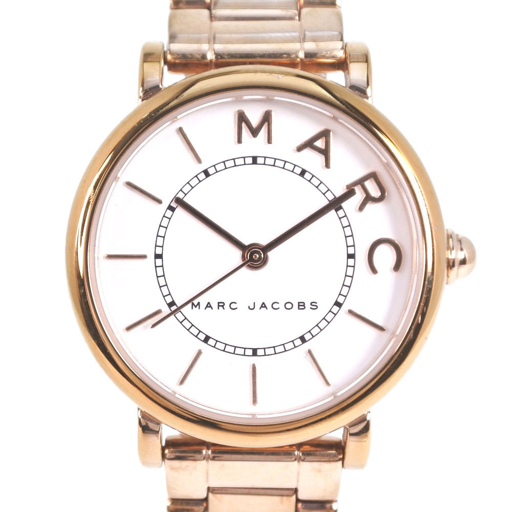 【MARC BY MARC JACOBS】マークバイマークジェイコブス MJ3527 ステンレススチール ゴールド クオーツ レディース 白文字盤 腕時計【中古】A-ランク