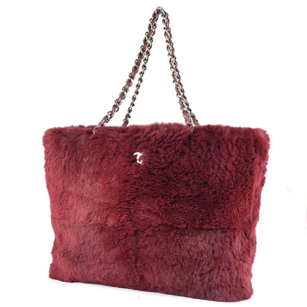78a92ba0d912 pawn shop nishikino  Chanel chain Thoth rabbit fur Bordeaux Lady s ...