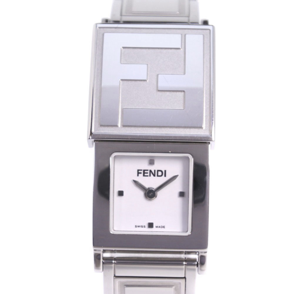 【FENDI】フェンディ シークレット 5400L ステンレススチール シルバー クオーツ レディース 白文字盤 腕時計【中古】Aランク