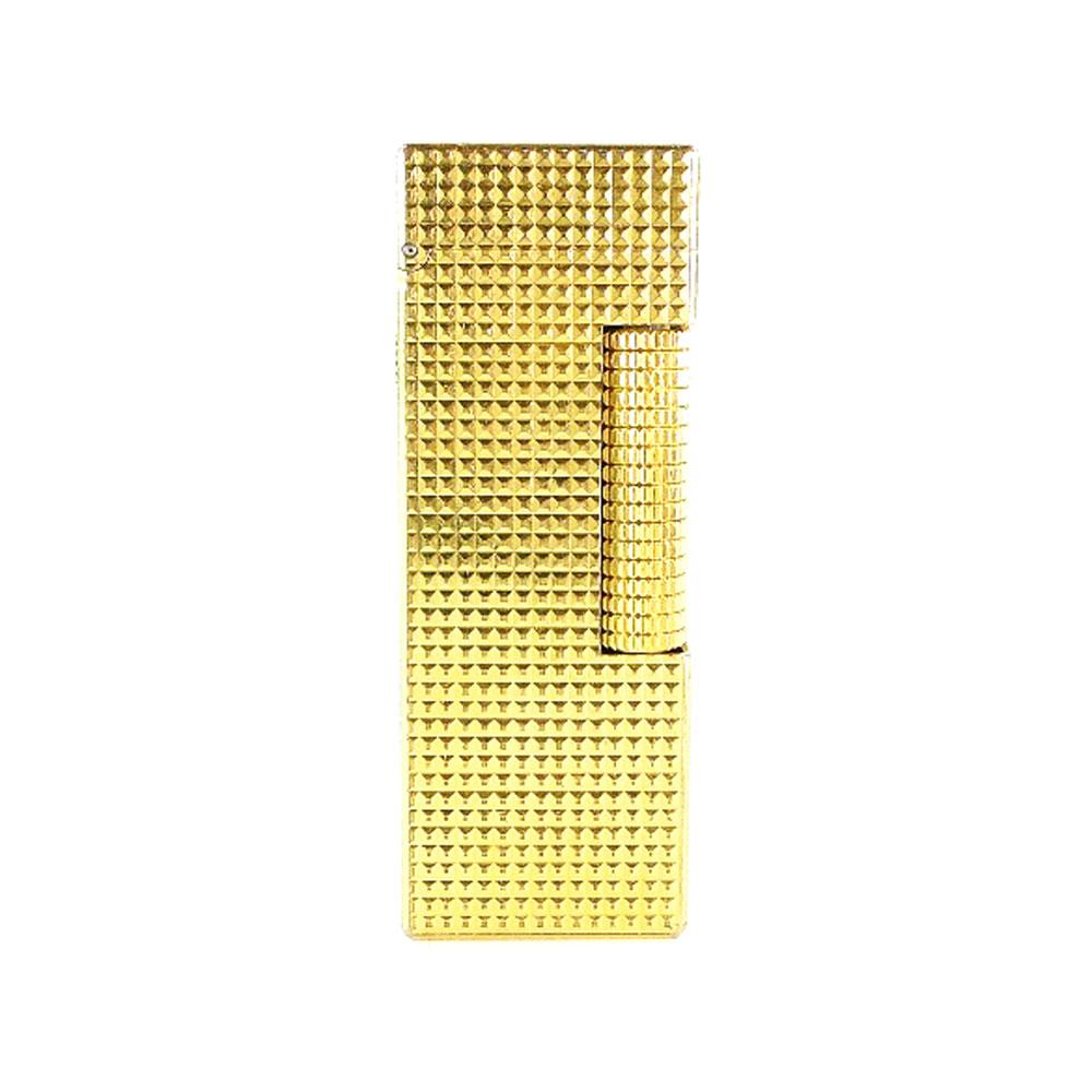 【Dunhill】ダンヒル ゴールド 角型 ゴールド ユニセックス ライター【中古】