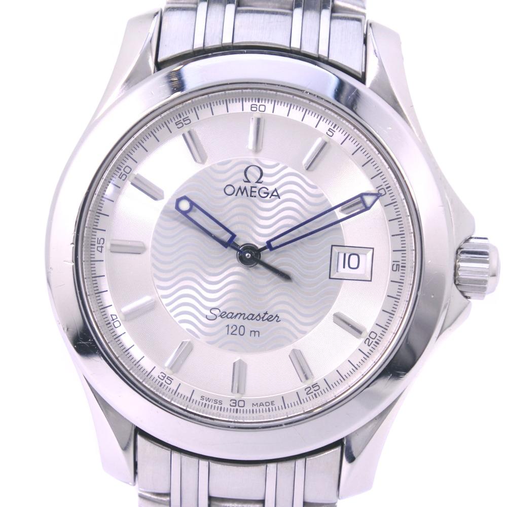 【OMEGA】オメガ シーマスター120M 2511.31 ステンレススチール クオーツ メンズ シルバー文字盤 腕時計【中古】
