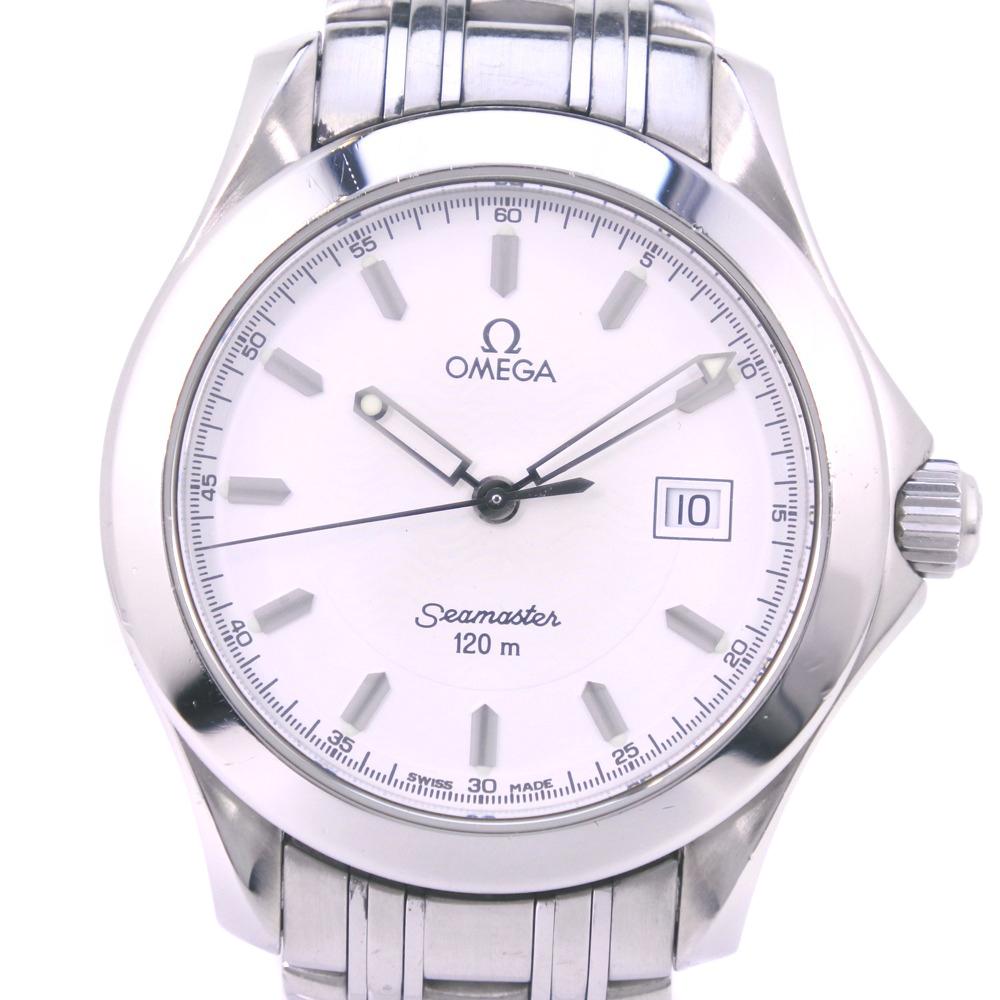 【OMEGA】オメガ シーマスター120M 2511.30 ステンレススチール シルバー クオーツ メンズ シルバー文字盤 腕時計【中古】A-ランク