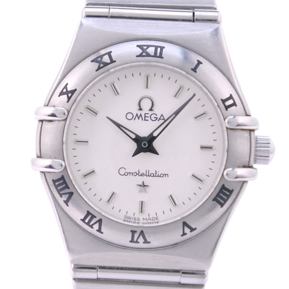 【OMEGA】オメガ コンステレーション 1562.30 ステンレススチール クオーツ レディース シルバー文字盤 腕時計【中古】A-ランク