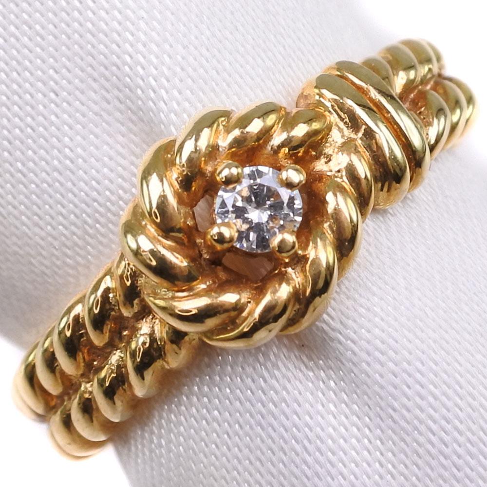 K18ゴールド×ダイヤモンド 11.5号 レディース リング・指輪【中古】SAランク