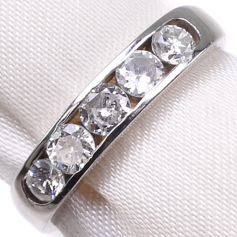 Pt900プラチナ×ダイヤモンド 11号 D 0.58刻印 レディース リング・指輪【中古】SAランク