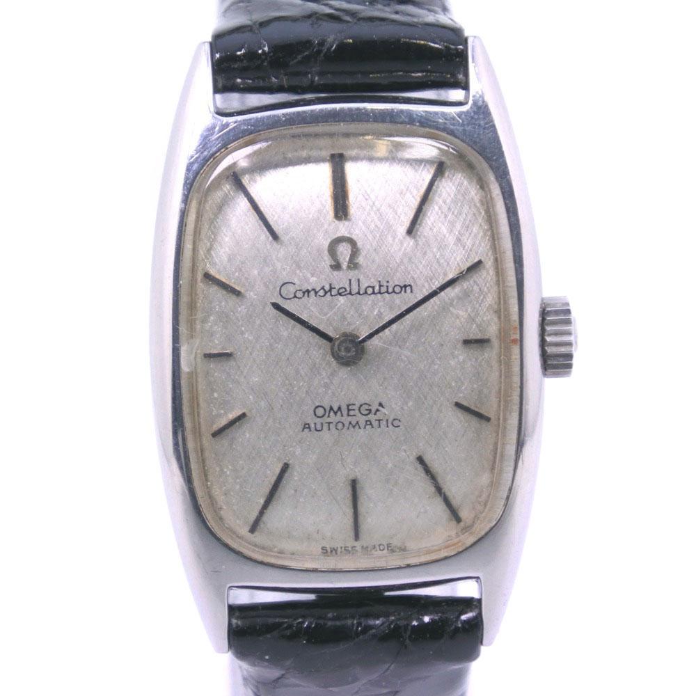 【OMEGA】オメガ コンテレーション cal.661 ステンレススチール ブラック 自動巻き レディース シルバー文字盤 腕時計【中古】